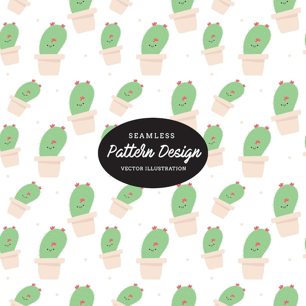Nettes Kaktusmuster Blätter Und Blumen Hand Gezeichnet, Design Für Einladung,  Hochzeit Oder Grußkarten Premium