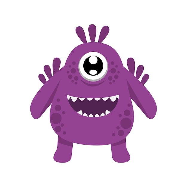 Nettes Monster Charakter Illustration Design-Vorlage   Download der ...