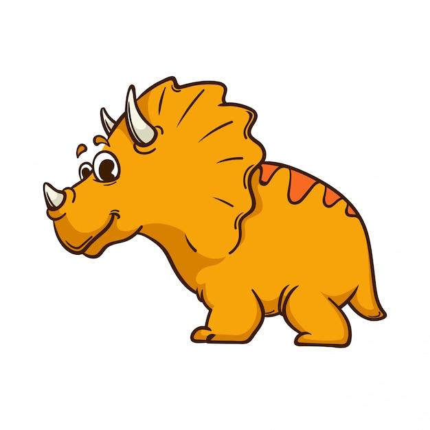 Nettes monster der dinosaurierkarikatur Premium Vektoren