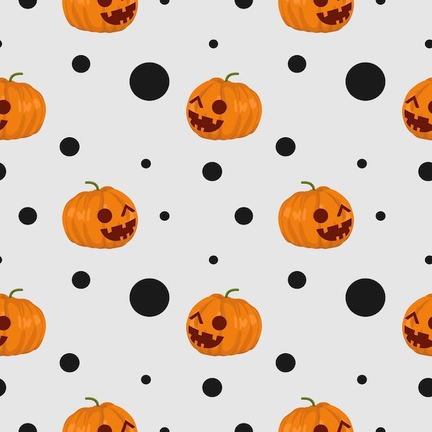 Nettes nahtloses muster halloweens frankenstein und netzspinne Premium Vektoren