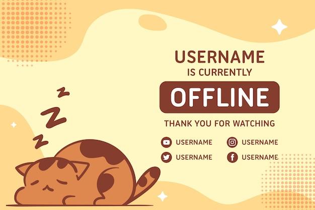 Nettes offline zuckendes banner Premium Vektoren