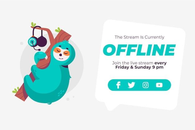 Nettes offline zuckendes banner Kostenlosen Vektoren