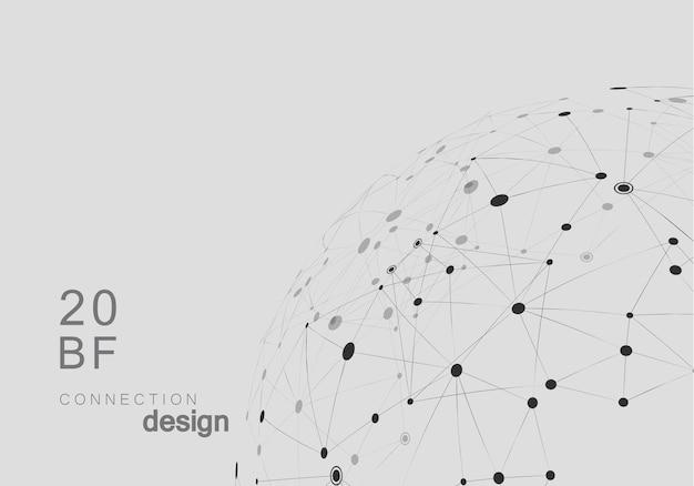 Netzwerk abstrakter vektorhintergrund mit verbundenen formen. Premium Vektoren