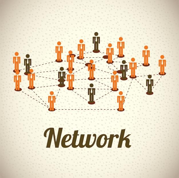 Netzwerk Premium Vektoren