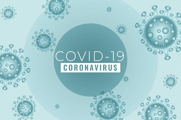 Neuartiges coronavirus covid19 verbreitete den hintergrund des ausbruchs Kostenlosen Vektoren
