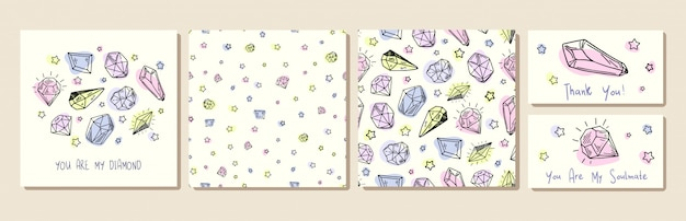 Neue kristalle Premium Vektoren