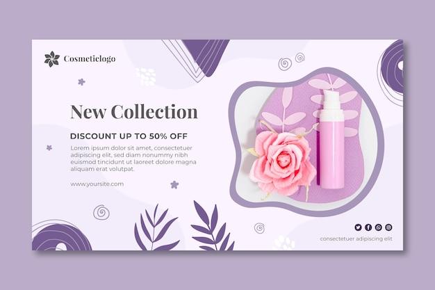 Neue sammlung kosmetische banner vorlage Kostenlosen Vektoren
