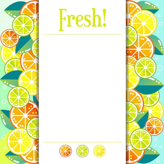 Neuer bunter zitrusfruchtseitenhintergrund Premium Vektoren