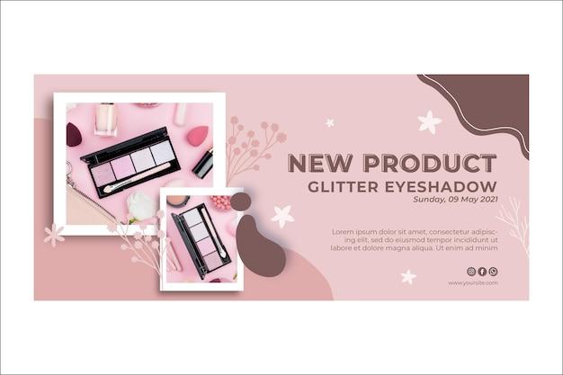 Neues banner für glitzer-make-up-produkte Kostenlosen Vektoren