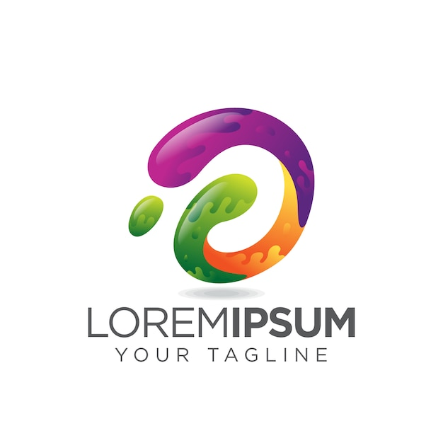 Neues buchstabe d-logo Premium Vektoren