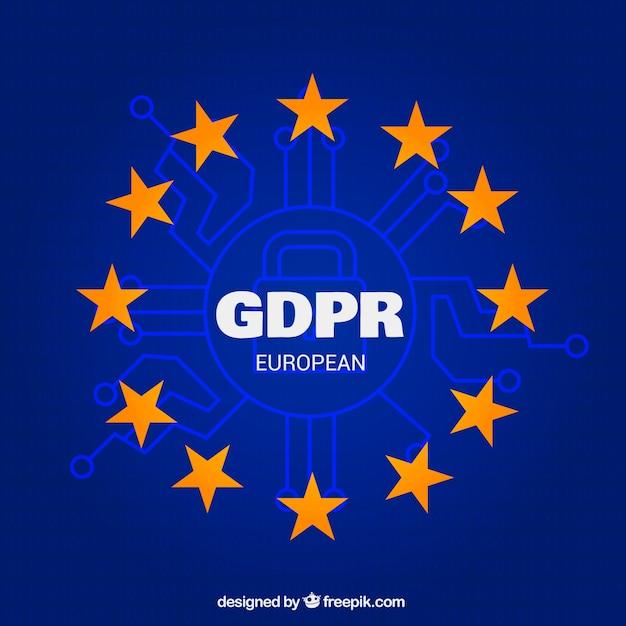 Neues europäisches gdpr konzept Kostenlosen Vektoren