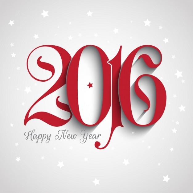 Neues Jahr 2016 Hintergrund mit ornamentalen Nummern Kostenlose Vektoren