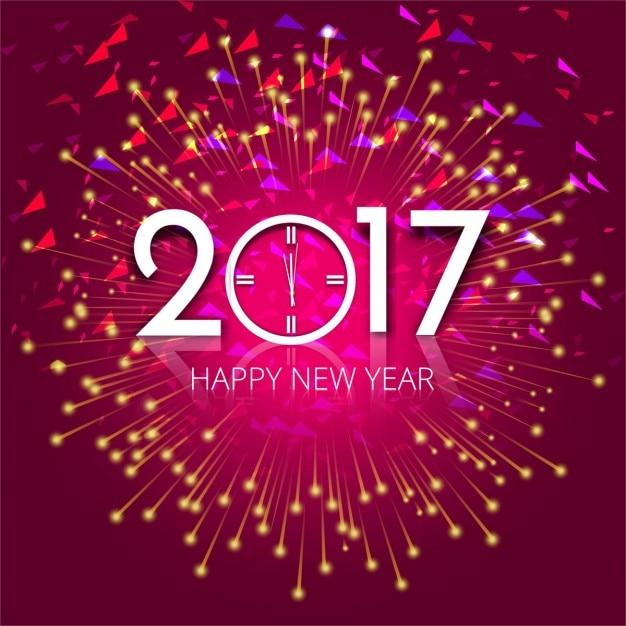 Neues Jahr 2017 Hintergrund Kostenlose Vektoren