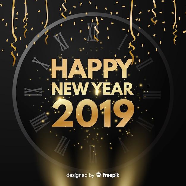 Neues Jahr 2019 Hintergrund Download Der Kostenlosen Vektor