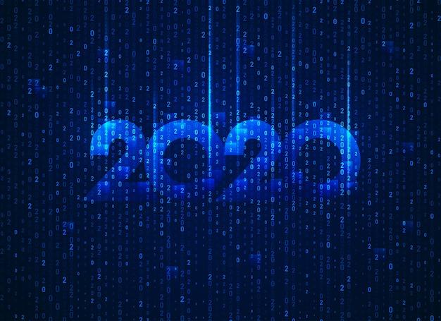 Neues jahr 2020 in der konzeptionellen technologie Premium Vektoren