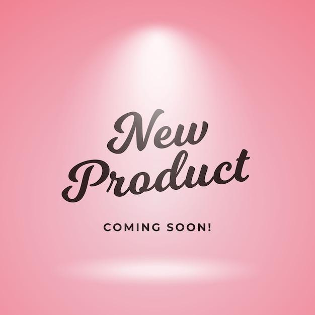 Neues produkt, das bald plakathintergrundauslegung kommt Premium Vektoren