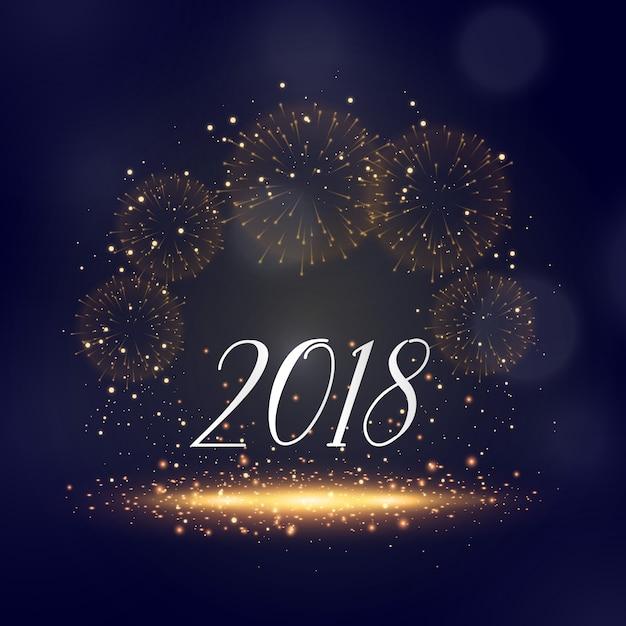 Neujahr 2018 funkelt und Feuerwerk Hintergrund Gruß   Download der ...