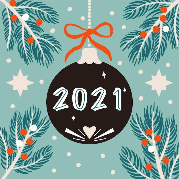 Neujahr feierlichkeiten Premium Vektoren
