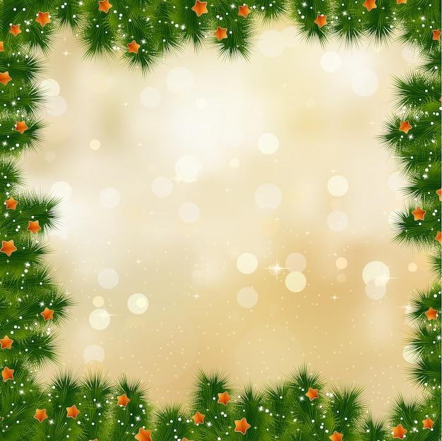 Neujahrs- und weihnachtskarte. Premium Vektoren
