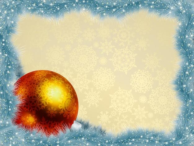 Neujahrshintergrund mit ball. Premium Vektoren