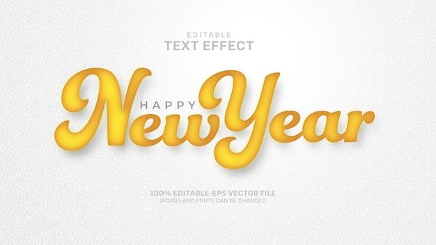 Neujahrstext-effekt Kostenlosen Vektoren