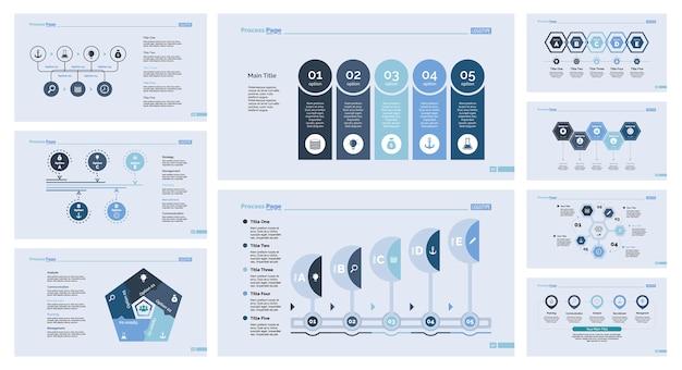 Neun Vorlagen-Vorlagen für Vorlagen Kostenlose Vektoren