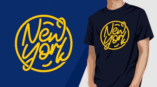 New yok typografie t-shirt design für druck Premium Vektoren