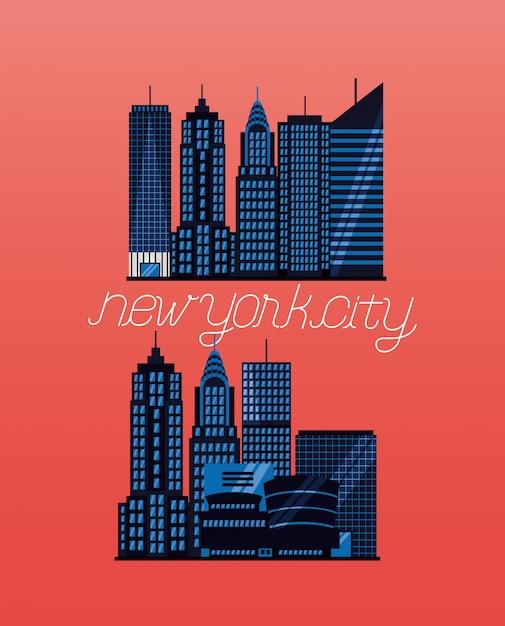 New york city Kostenlosen Vektoren