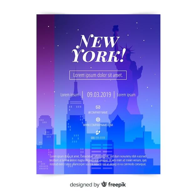 New york flyer vorlage Kostenlosen Vektoren