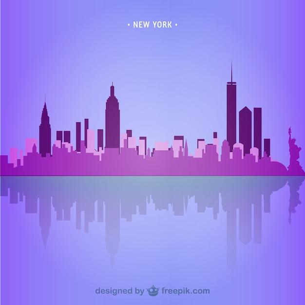 new york skyline illustration download der kostenlosen vektor. Black Bedroom Furniture Sets. Home Design Ideas