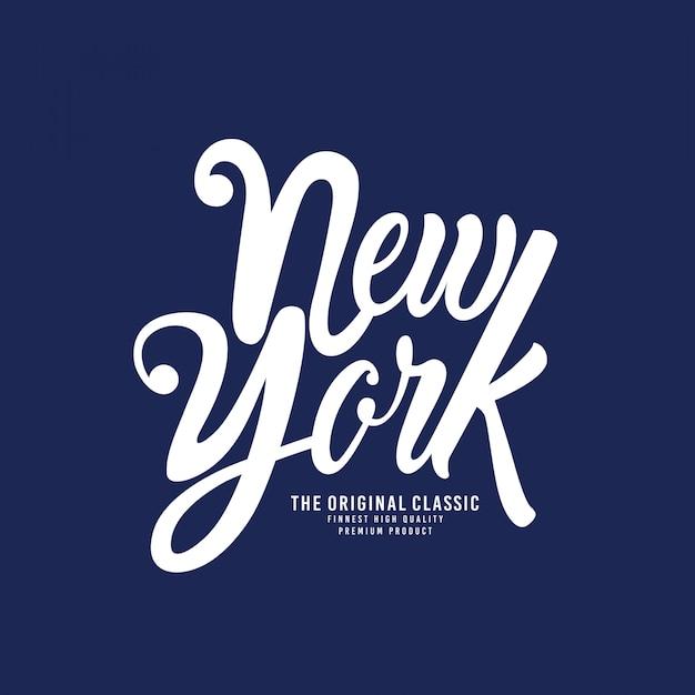 New york - typografie für t-shirt Premium Vektoren