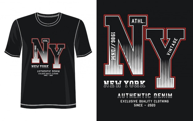 New york typografie illustration Premium Vektoren