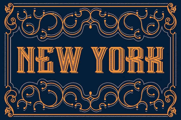 new york typografie schriftzug vektor design download der premium vektor. Black Bedroom Furniture Sets. Home Design Ideas