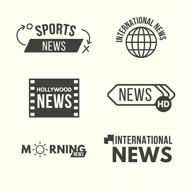 News design logo sammlung Kostenlosen Vektoren