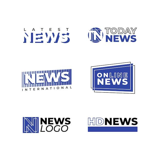 News logo design kollektion Kostenlosen Vektoren