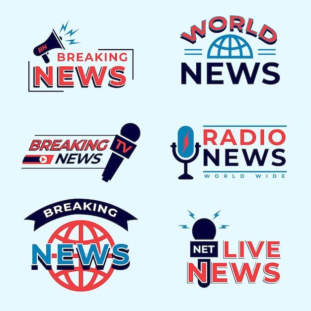 News logo pack Kostenlosen Vektoren