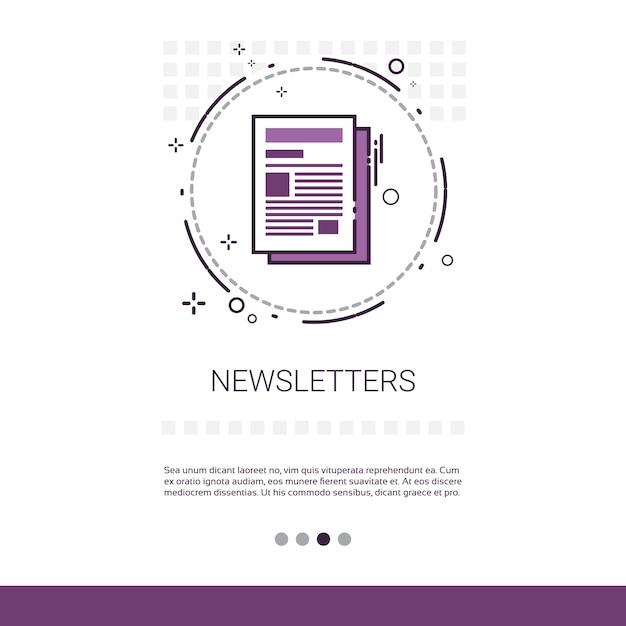 Newsletter anwendung zeitung web banner Premium Vektoren