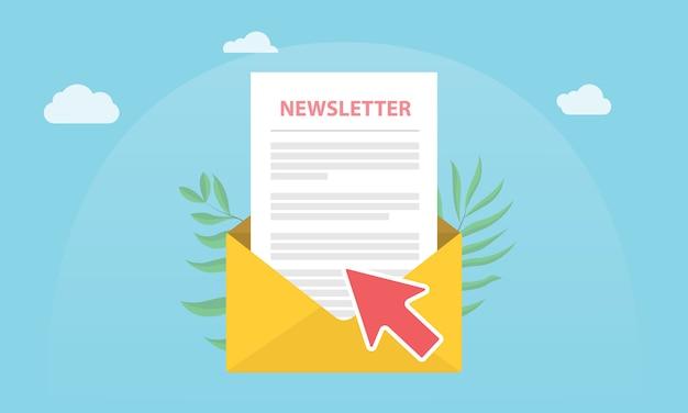 Newsletter-konzept abonnieren Premium Vektoren