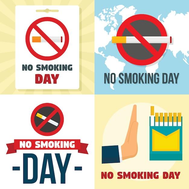 Nicht rauchen tag hintergründe Premium Vektoren