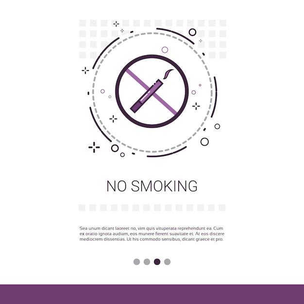 Nichtraucher-öffentliche zeichen-fahne Premium Vektoren