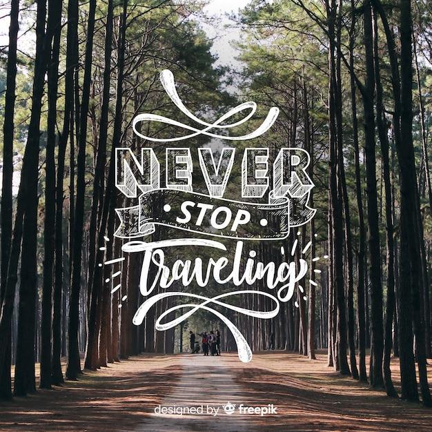 Nie aufhören zu reisen Kostenlosen Vektoren