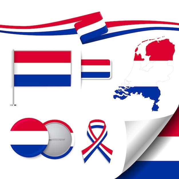 Niederlande repräsentative elemente sammlung Kostenlosen Vektoren
