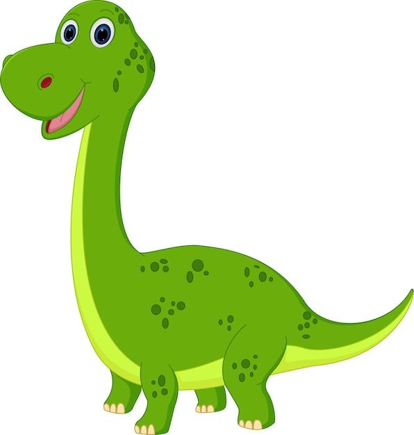 Niedlicher Dinosaurier Cartoon Download Der Premium Vektor