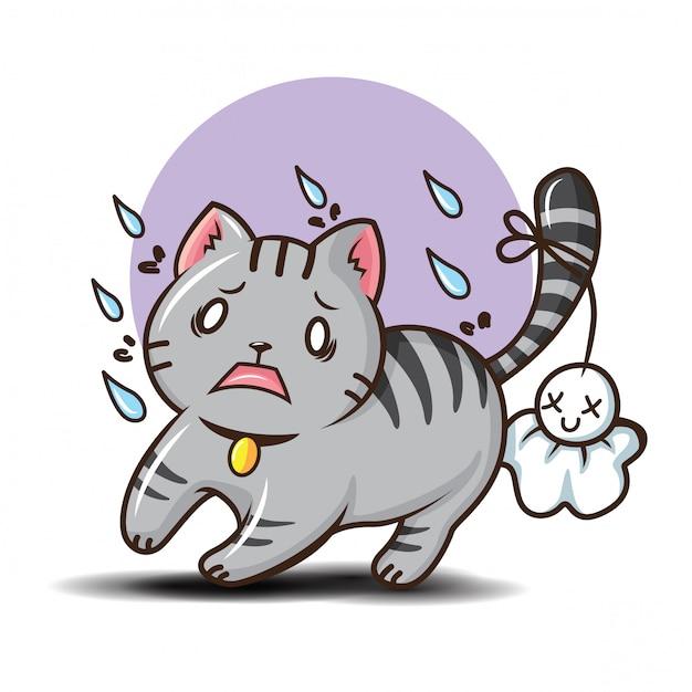 Niedlicher kurzhaar cat cartoon vector. Premium Vektoren