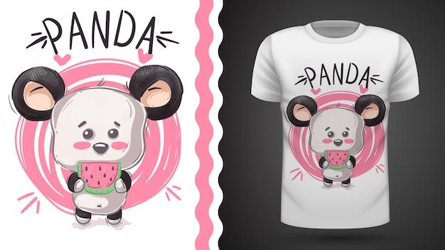 Niedlicher panda, bär, idee für druckt-shirt Premium Vektoren