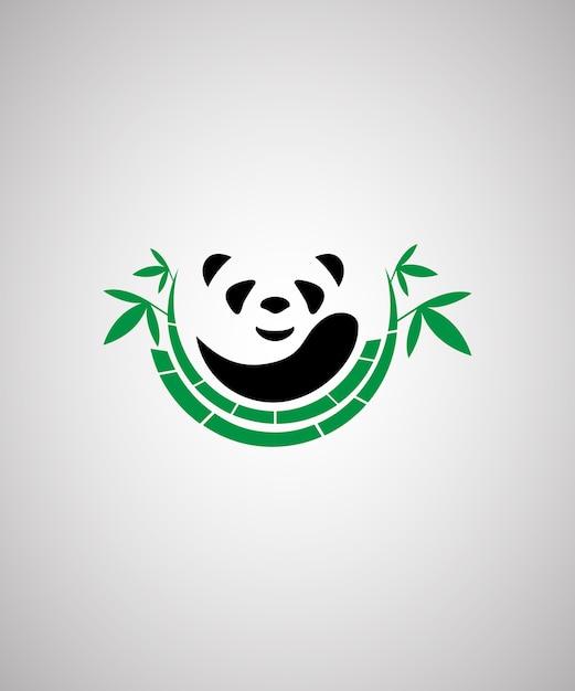 Niedlicher panda ilustration entwurf Premium Vektoren
