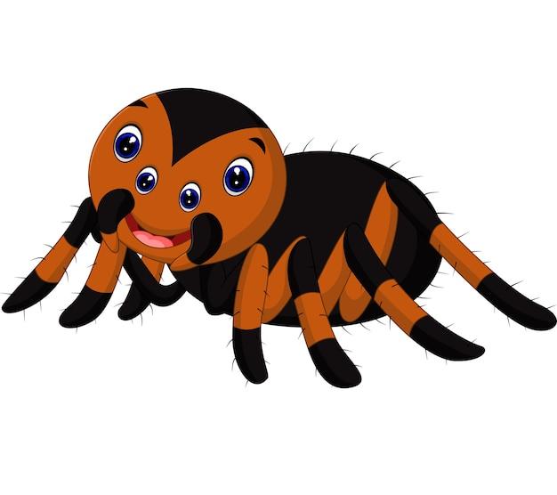 Niedlicher tarantulakarikatur Premium Vektoren