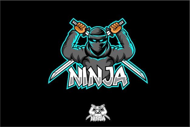 Ninja esport logo Premium Vektoren