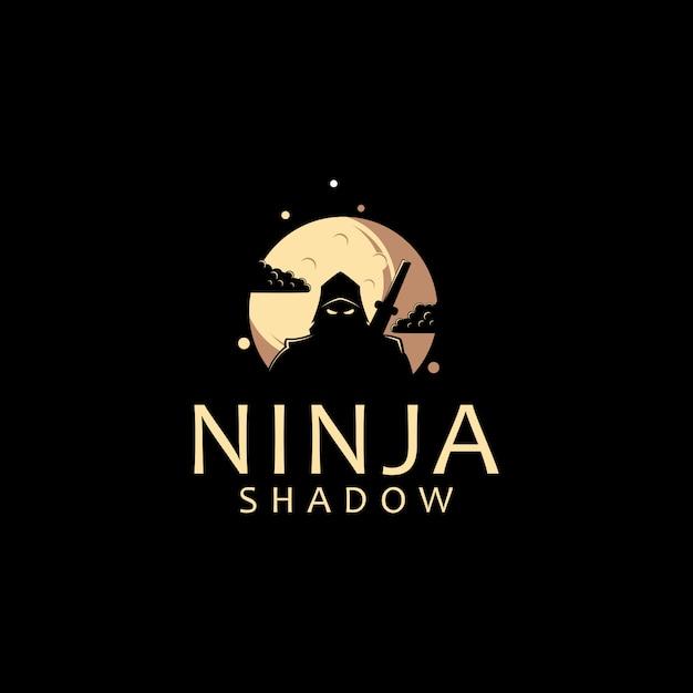 Ninja-logo-vorlage Premium Vektoren