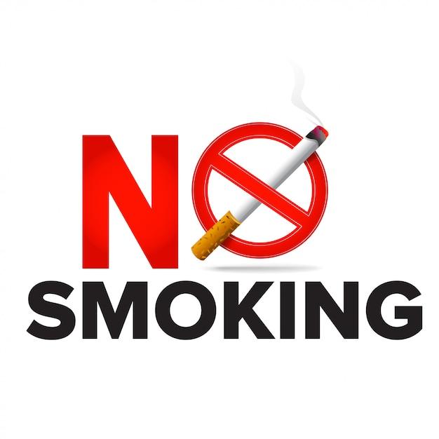 No smoking label sign realistische symbol Premium Vektoren
